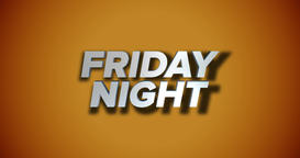 Dynamic Friday Night Title Page Background Animation Footage