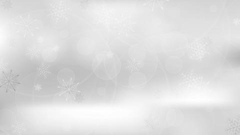 Grey cold winter Christmas clip with snowflakes Animation