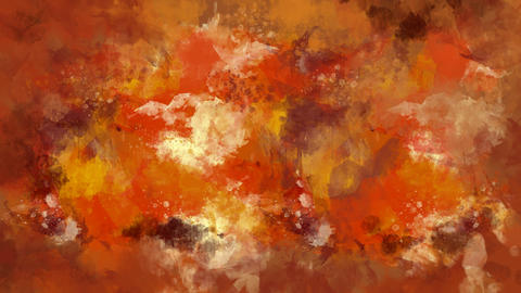 Orange and brown watercolor background appears on the alpha channel Animation