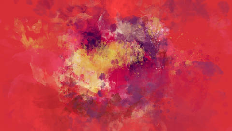 Red and pink watercolor background appears on the alpha channel GIF