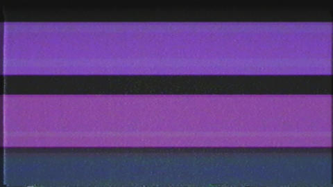 Retro VHS Abstract fast Color Glitch interference screen noise static television Animation