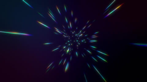 4K Abstract creative cosmic background. Hyper jump into... Stock Video Footage
