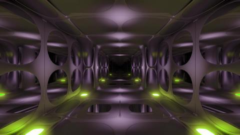 clean futuristic alien scifi fantasy hangar tunnel corridor 3d rendering motion Animation