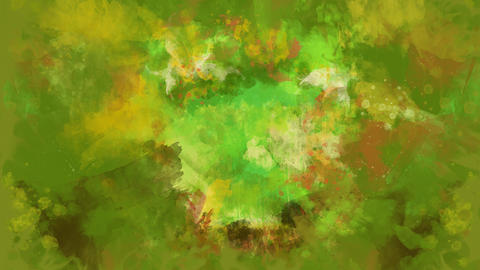 Green watercolor background appears on the alpha channel GIF