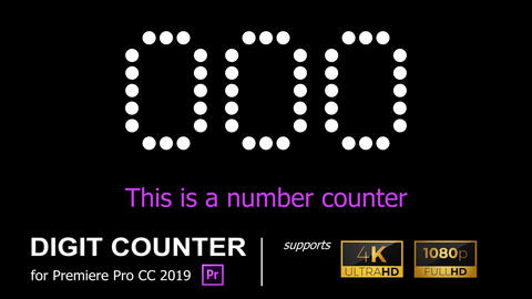 4K/HD NUMBER COUNTER [COUNTER09] Premiere Proテンプレート