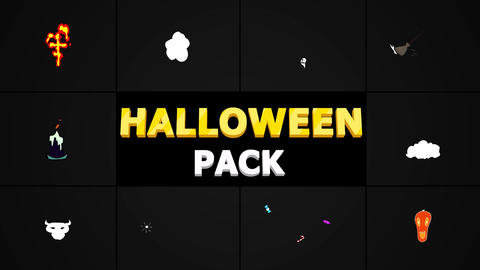 Halloween Elements Plantilla de After Effects