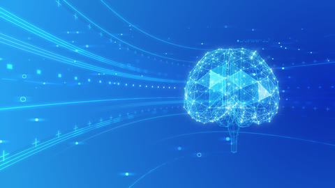 AI artificial intelligence digital network technologies 19 2 Brain 6 blue 4k Animation
