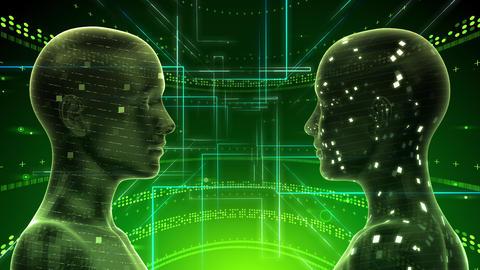 AI artificial intelligence digital network technologies 19 2 Duo 2 green 4k Animation