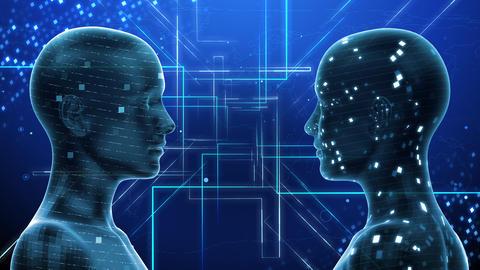 AI artificial intelligence digital network technologies 19 2 Duo 3 blue 4k Animation