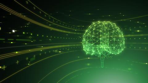 AI artificial intelligence digital network technologies 19 2 Brain 6 green 4k Animation