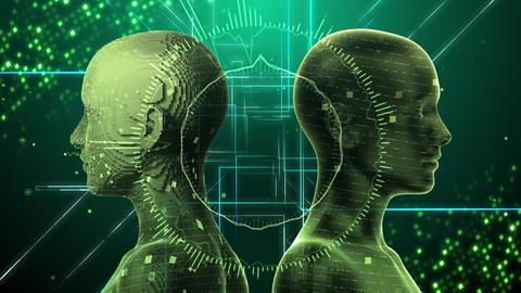 AI artificial intelligence digital network technologies 19 2 Duo 3 green 4k Animation