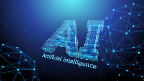 AI artificial intelligence digital network technologies 19 2 Mix 4 blue 4k Animation