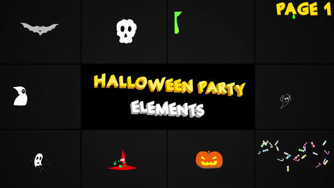Halloween Party Elements Premiere Pro Template