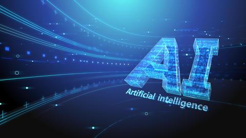 AI artificial intelligence digital network technologies 19 2 Mix 6 blue 4k Animation