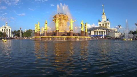 Renewed Fountain of Friendship Stock Video Footage