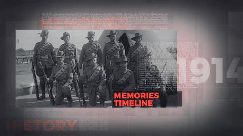 History Memories After Effects Template