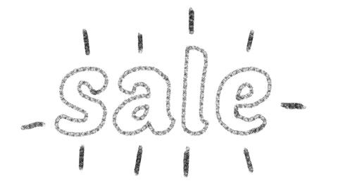 written sale, animated type chalk, ideal for themes such as online commerce, 4k GIF