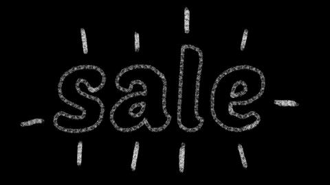 written sale, animated type chalk, ideal for themes such as online commerce, 4k Photo