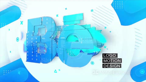 Clean Logo Opener 4K After Effects Template