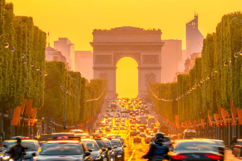 Orange Sunset on the Champs Elysees フォト