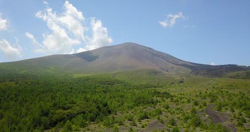 Japan,Japanese,Gunma,Nagano,Karuizawa,Tsumagoi,drone,volcano,Mt.asama Footage