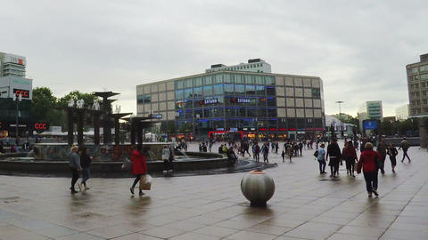 Alexanderplatz. The central square in Berlin. Germany Live Action