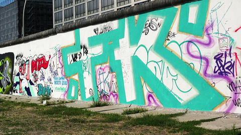 Berlin Wall. Graffiti Live Action