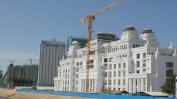 New white building being constructed,Phnom Penh,Cambodia Footage