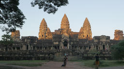 Angkor Wat in early morning from south,Siem Reap,Cambodia Footage