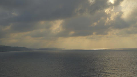 Beautiful sunset at sea Footage