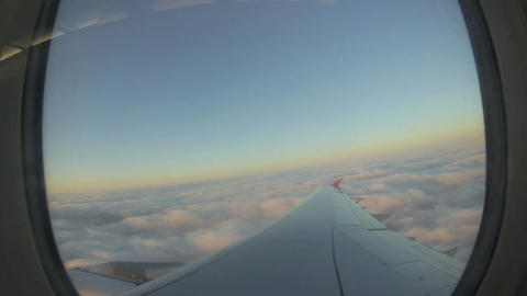 Look out from the airplane window - Time Lapse Footage