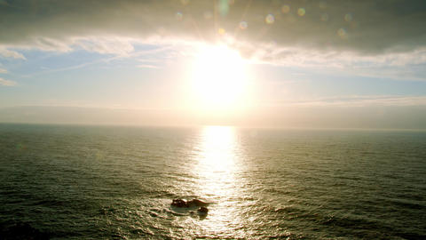 Cape Roca - the famous Cabo da Roca coast in Portugal at sunset Footage