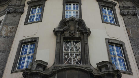 Beautiful facade of an old house. Berlin. Germany Live Action