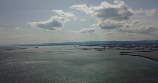 Japan,Japanese,Fukushima,Iwaki,Nakoso,Drone,sky,Pacificocean,country,sea,landscape,Onahama,Marinetow Footage