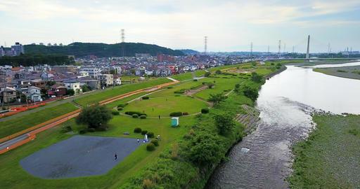 japan,japanese,Tokyo,Tama,Seisekisakuragaoka,Sekido,Fuchu,Tamagawa,Tamariver,Drone,sky,Keio,Bridge Live Action