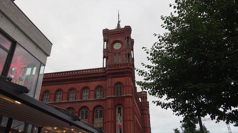 Red Town Hall. City Senate. Berlin. Germany Live Action