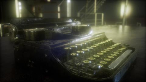 retro typewriter in the dark Footage