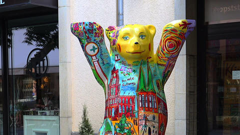 Berlin Bear Statue, Germany Live Action