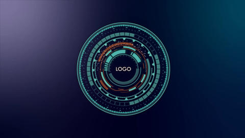 Falcon HUD Logo 09 Plantilla de After Effects