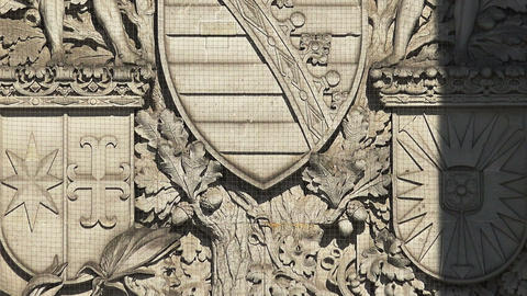 Beautiful stucco, bas-relief on the facade of an old house. Berlin. Germany Live Action