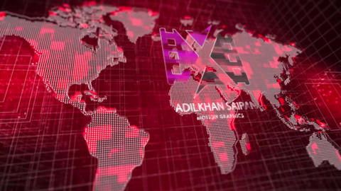 Digital Map Logo Reveal After Effects Template