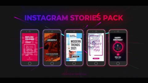 Instagram Stories Pack Premiere Proテンプレート