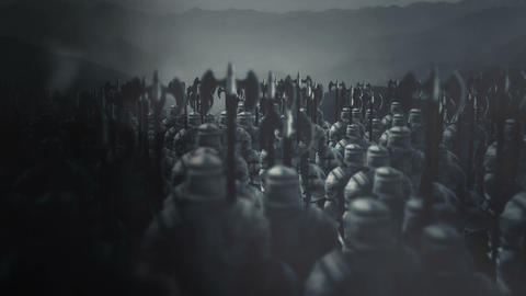 Big Army of Medieval Soldiers Ready for War Archivo