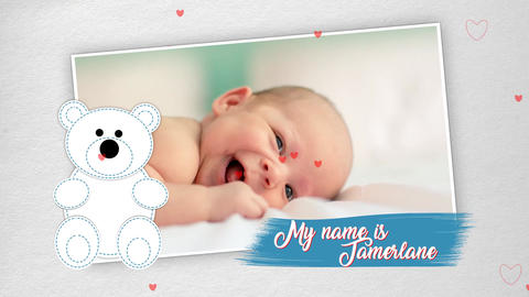 Baby Photo Album After Effects Template
