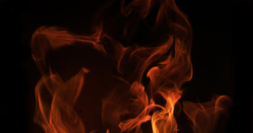 Flames in a pellet stove, Slow motion 4K Footage