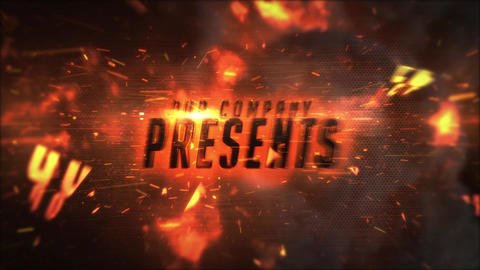 Epic Fire Cinematic Titles Motion Graphics Template
