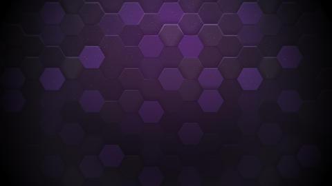 Motion dark purple hexagon abstract background Animation