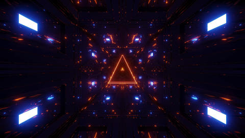 glowing wireframe trangle with nice reflection motion background live wallpaper Animation