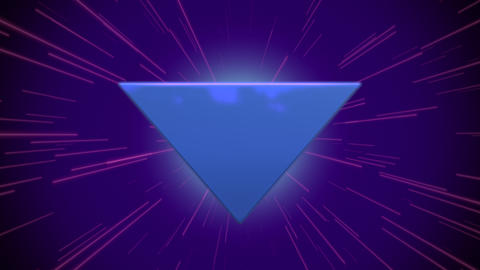 Motion retro blue triangle abstract background Animation