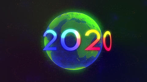 motion element world 2020 in space Animation